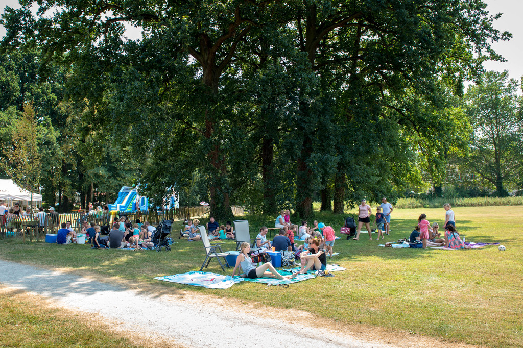 Picknicken in het park